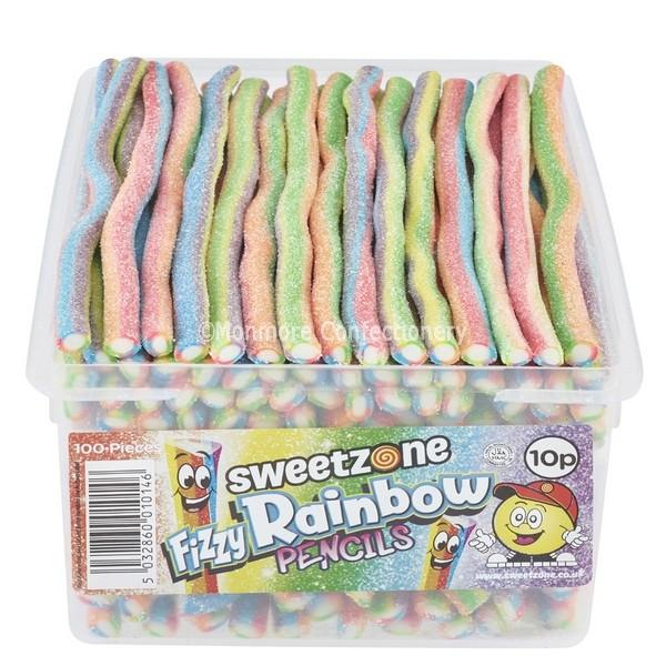 Fizzy Rainbow Pencils (Sweetzone Pencils) 100 Count