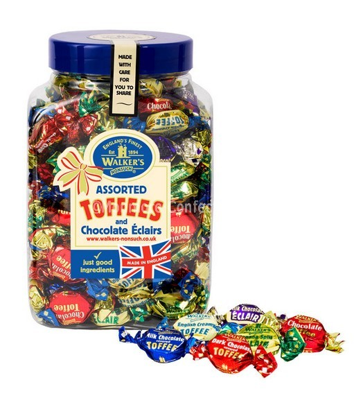 ASSORTED TOFFEES & ECLAIRS JAR (WALKERS NONSUCH) 1.25KG