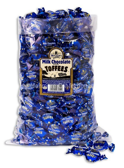 MILK CHOCOLATE COVERED TOFFEES (Walkers Nonsuch) 2.5kg