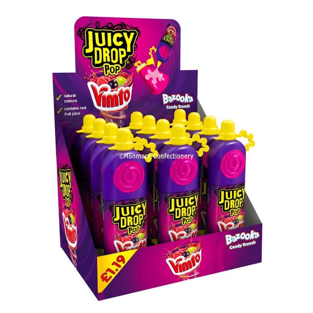 Vimto Juicy Drop Pop £1.19 PMP 26g (Bazoka) 12 count