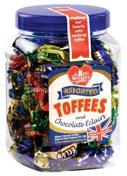 walkers toffee small gift jar
