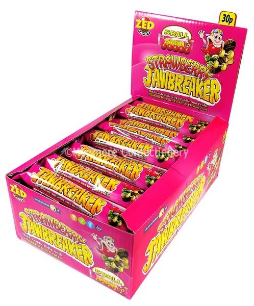 STRAWBERRY JAWBREAKER (ZED CANDY) 30 COUNT