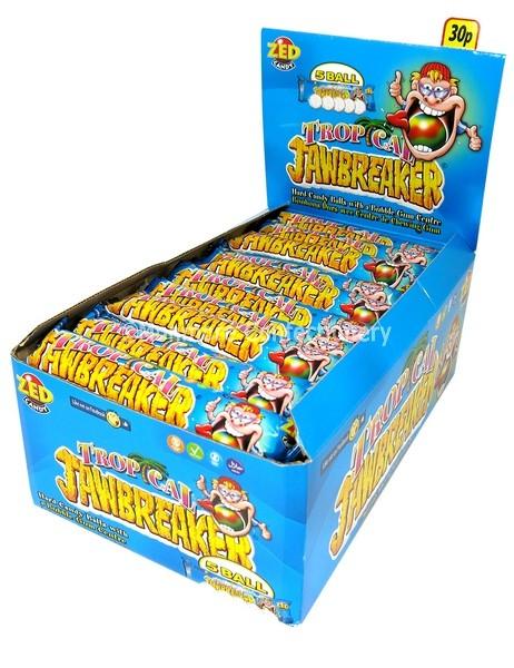 TROPICAL JAWBREAKER (ZED CANDY) 30 COUNT