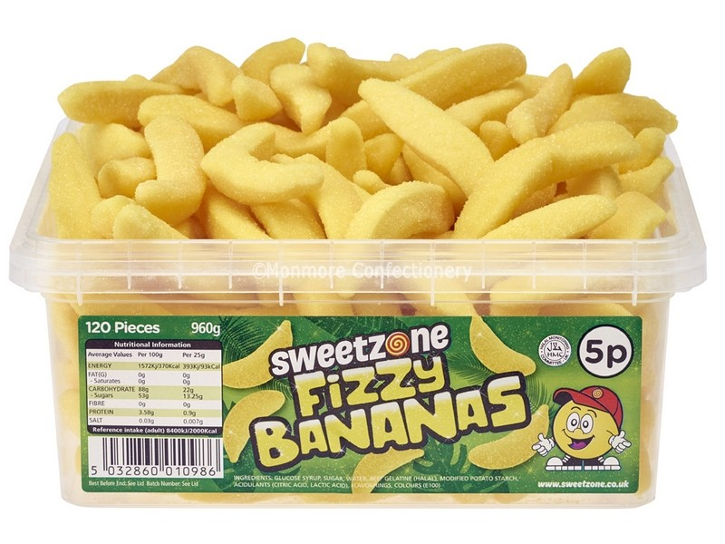 Fizzy Bananas Tub (Sweetzone) 120 Count
