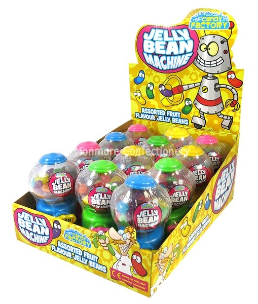MINI JELLY BEANS MACHINES 35G (ZED CANDY) 12 COUNT