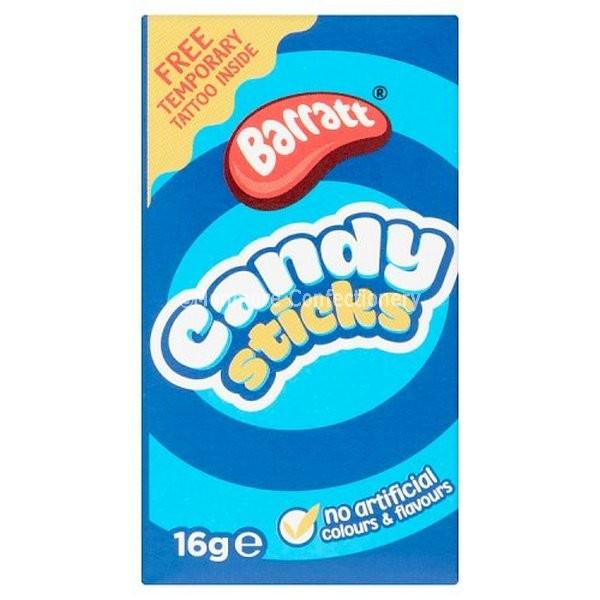 Candy Sticks 60g Box (Barratt) 60 Count