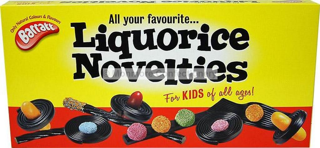 LIQUORICE NOVELTIES (BARRATT) 270G BOX