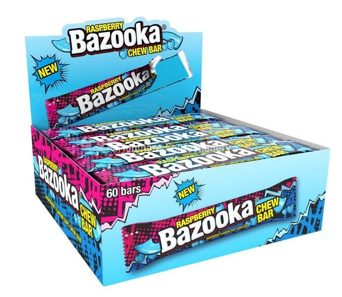Raspberry Chew Bars (Bazooka) 60 Count