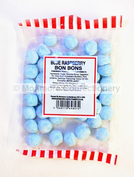 CHEWY BLUE RASPBERRY BON BONS (MONMORE) 180g