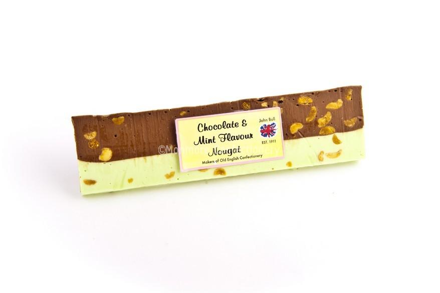 chocolate mint nougat