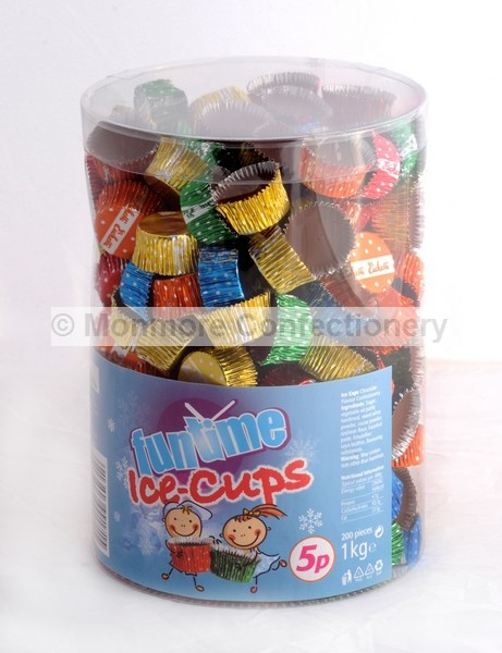 CHOCOLATE ICE CUPS (FUNTIME) 200 COUNT