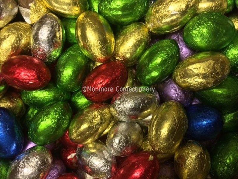 Milk Chocolate Foiled Eggs (Glisten) 3kg