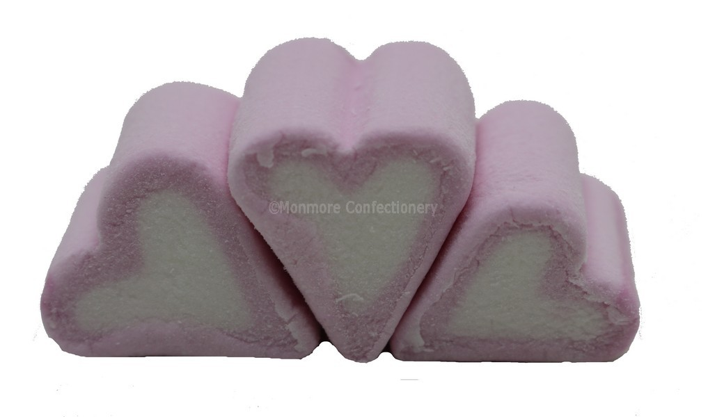 MINI HEART MALLOWS (KINGSWAY) 1KG