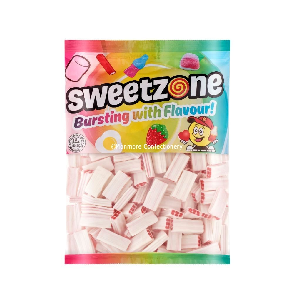 Inverted Strawberry & Cream Bricks (Sweetzone) 1kg Bag