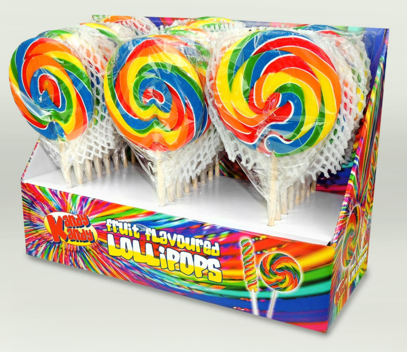 Kandy Kandy Swirly Round Lollies 24 x 80g