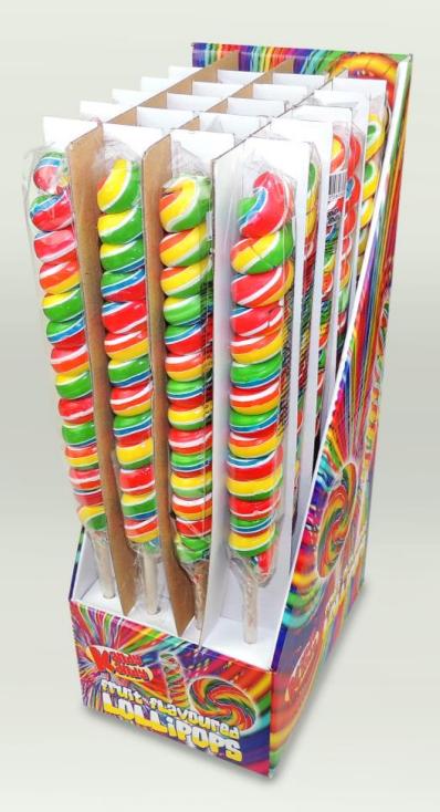 Kandy Kandy Tall Twister Lollies 24 x 80g