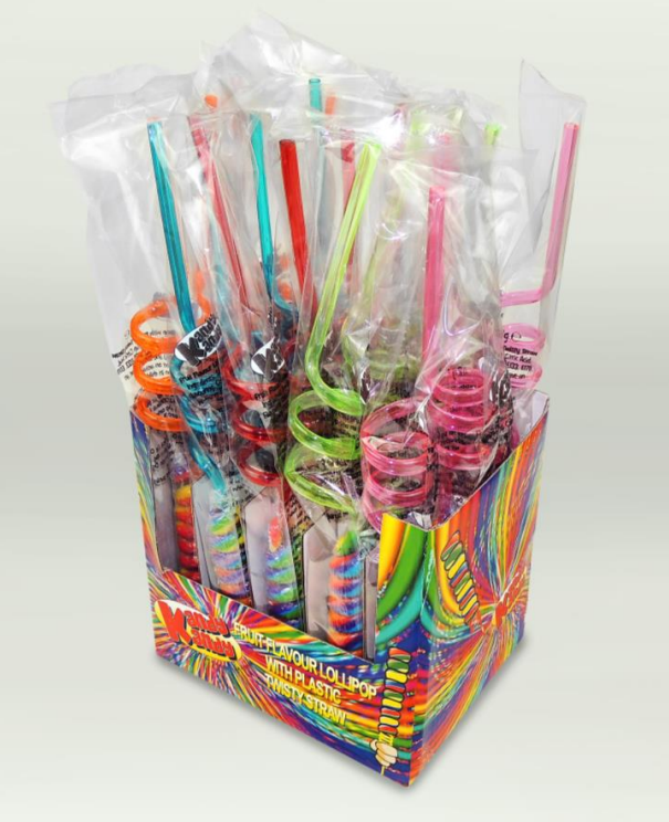 Kandy Kandy Twisty Straw Lollipops 20 X 42g
