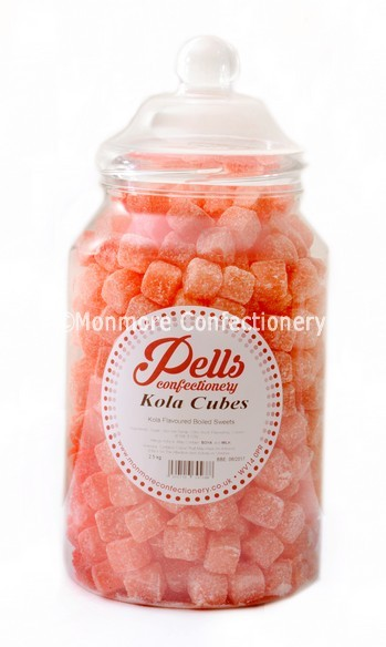 traditional sweet jar containing kola cubes wholesale sweets
