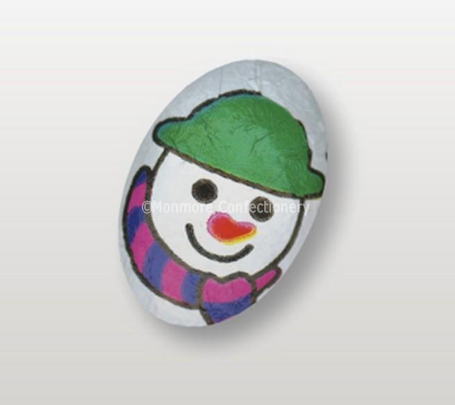 milk chocolate snowman egg