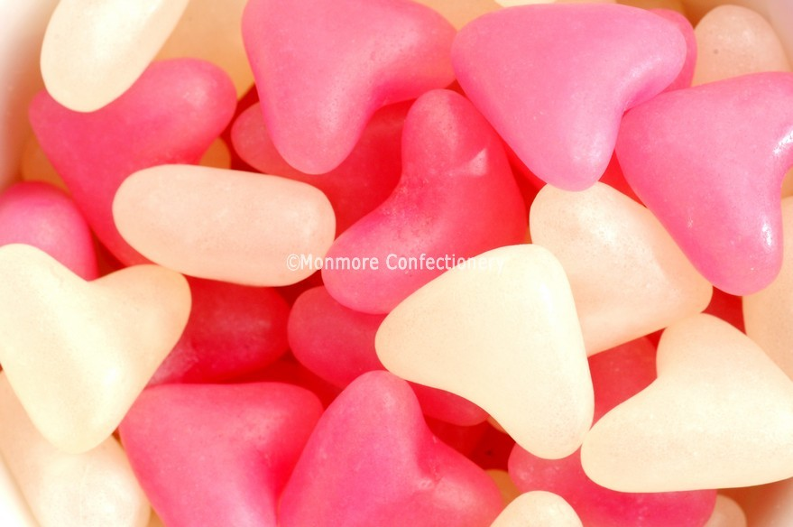 PINK & WHITE LOVE HEARTS (BARRATT) 3KG