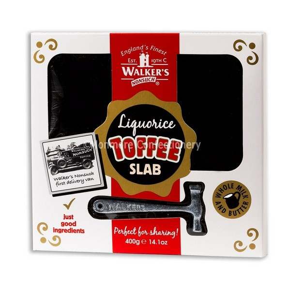 LIQUORICE TOFFEE SLAB (WALKERS NONSUCH) 400G