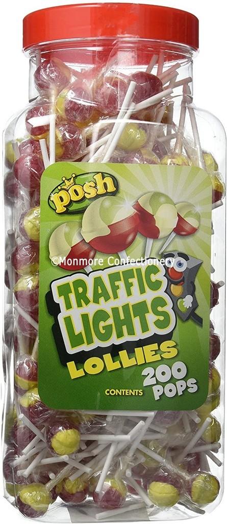 Traffic Lights Lollies Jar (Posh) 200 Count