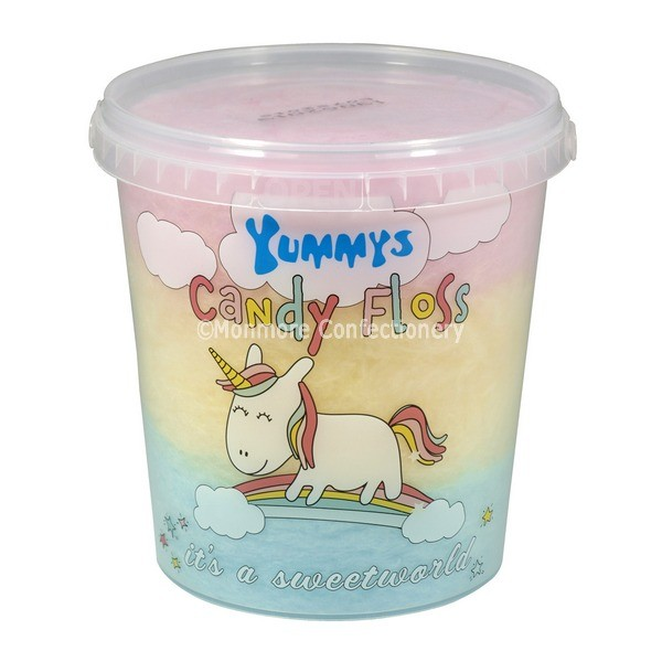 Yummys Unicorn Candy Floss 50g (Tees) 6 Count