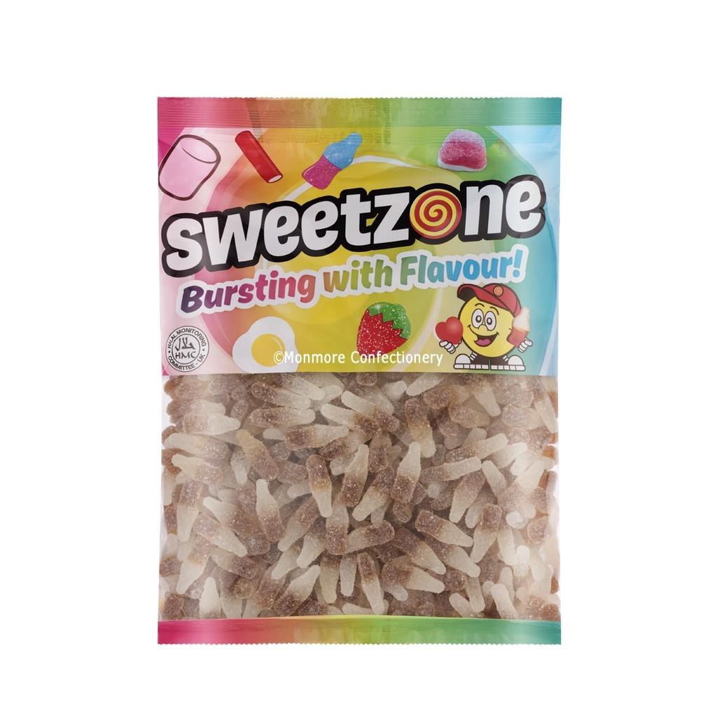 Vegan Fizzy Cola Bottles (Sweetzone) 1kg Bag