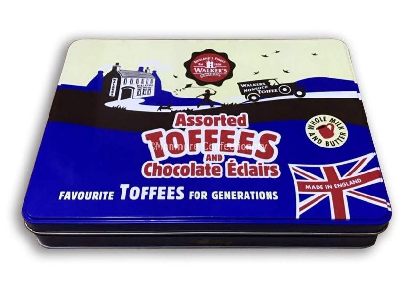 Assorted Toffees and Chocolate Eclairs Gift Tin (Walkers) 700g