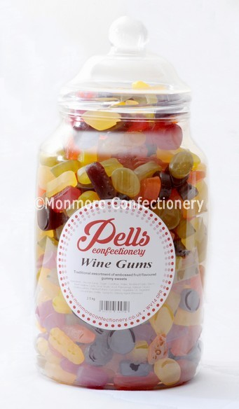 traditional sweet jar containing wine gums