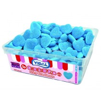 Shiny Blue Hearts Tub (Vidal) 120 Count