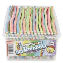 Fizzy Rainbow Pencils (Sweetzone Pencils) 100 Count