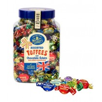 Assorted Toffees & Eclairs (WALKERS NONSUCH) 1.25Kg Jar