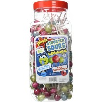 Assorted Sour Lollipops Jar (Posh) 200 Count