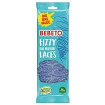 FIZZY BLUE RASPBERRY LACES (BEBETO) 12x200g