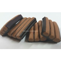 Chocolate striped liquorice