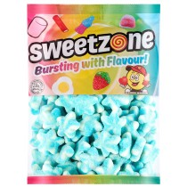 Sweetzone Fizzy Blue & White Stars 1kg Bag Halal HMC Sweets
