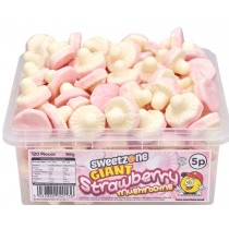 Giant Strawberry Mushrooms Tub (Sweetzone) 120 Count