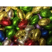 Milk Chocolate Foiled Eggs (Glisten) 3kg