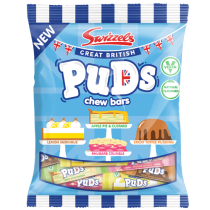 Swizzels Great British Puds Chew Bar Bags 12 x 150g