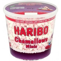 Haribo Mini Pink & White Mallow Tub 475g