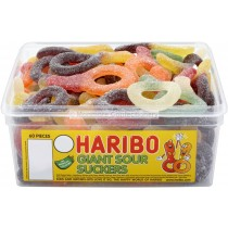 GIANT SOUR SUCKERS TUB (HARIBO) 60 COUNT