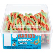 RAINBOW TWISTS TUB (HARIBO) 64 COUNT