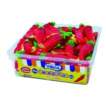 Jelly Filled Hot Chillies Tub (Vidal) 60 Count