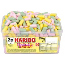 RHUBARB & CUSTARD TUB (HARIBO) 300 COUNT