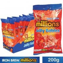 IRON BREW JELLY BABIES (MILLIONS) 10X200G