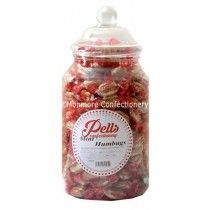 Pells sweet jar containing mint humbugs