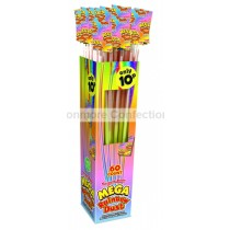 MEGA RAINBOW DUST STRAWS (SWIZZLES) 60 COUNT