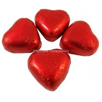 Red Foiled Milk Chocolate Hearts (Kingsway) 1kg