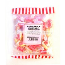 monmore confectionery rhubarb and custard 250g bag